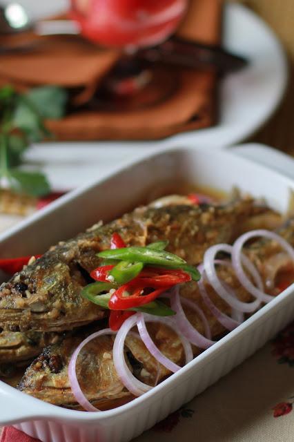 ikan kembung masak asam  masam manis  food asian