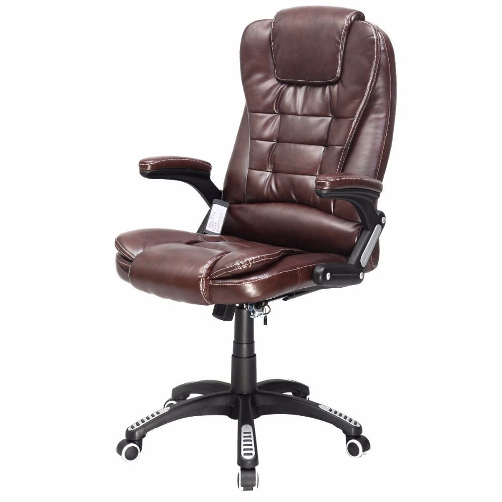 Executif Ordinateur De Bureau Ergonomique Chaise Massage Vibrant Home Office Nouveau HW50390BN