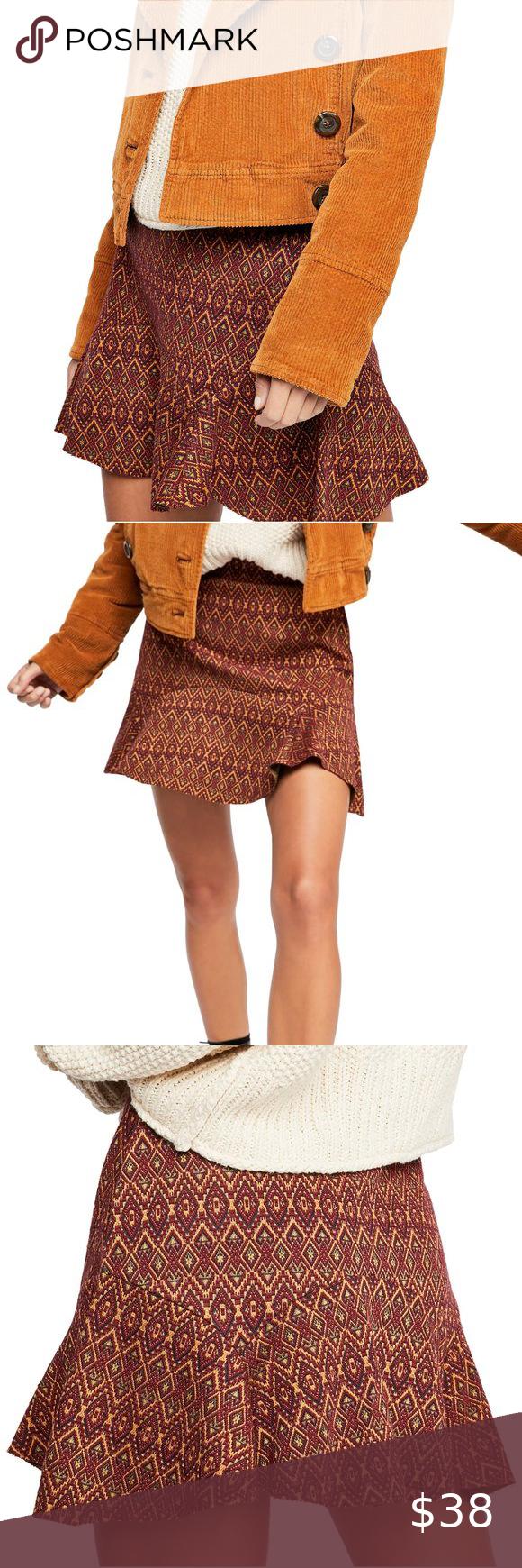 Free people knit skirt xs