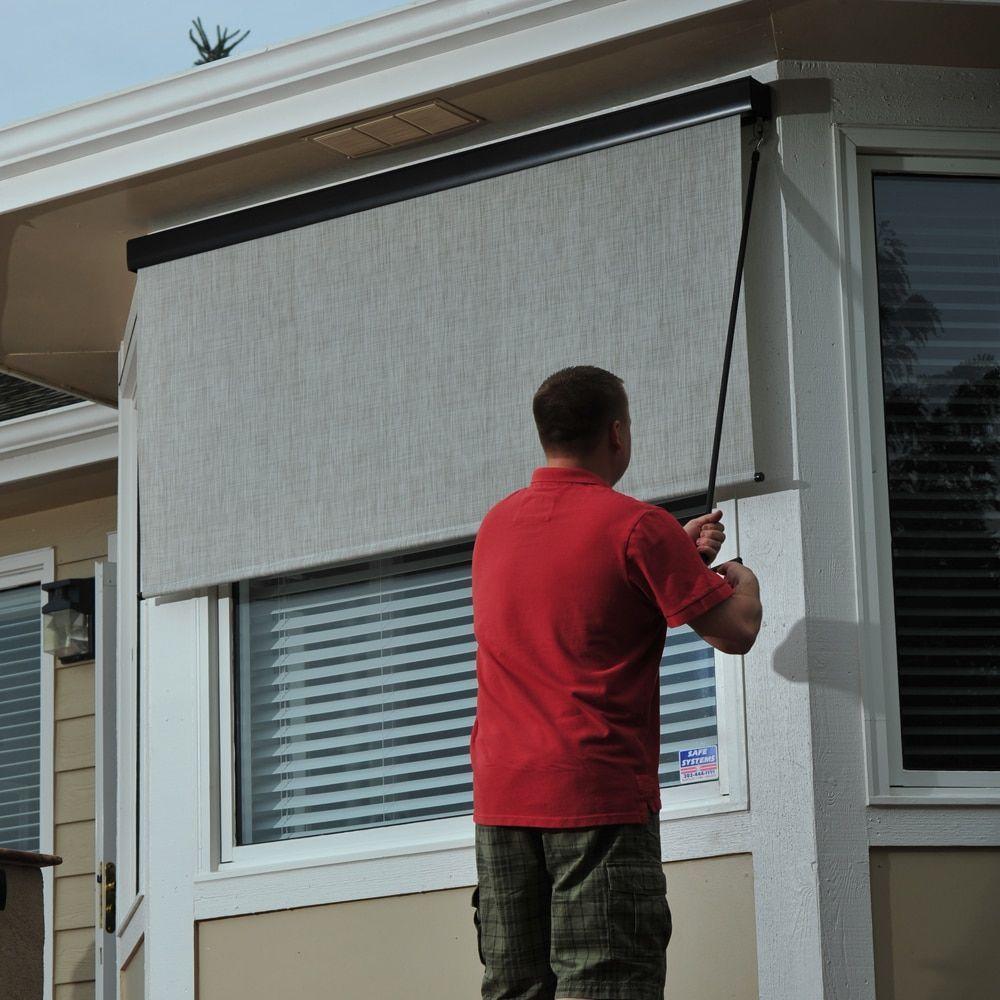 Keystone fabrics energy saving pole operated lift outdoor solar