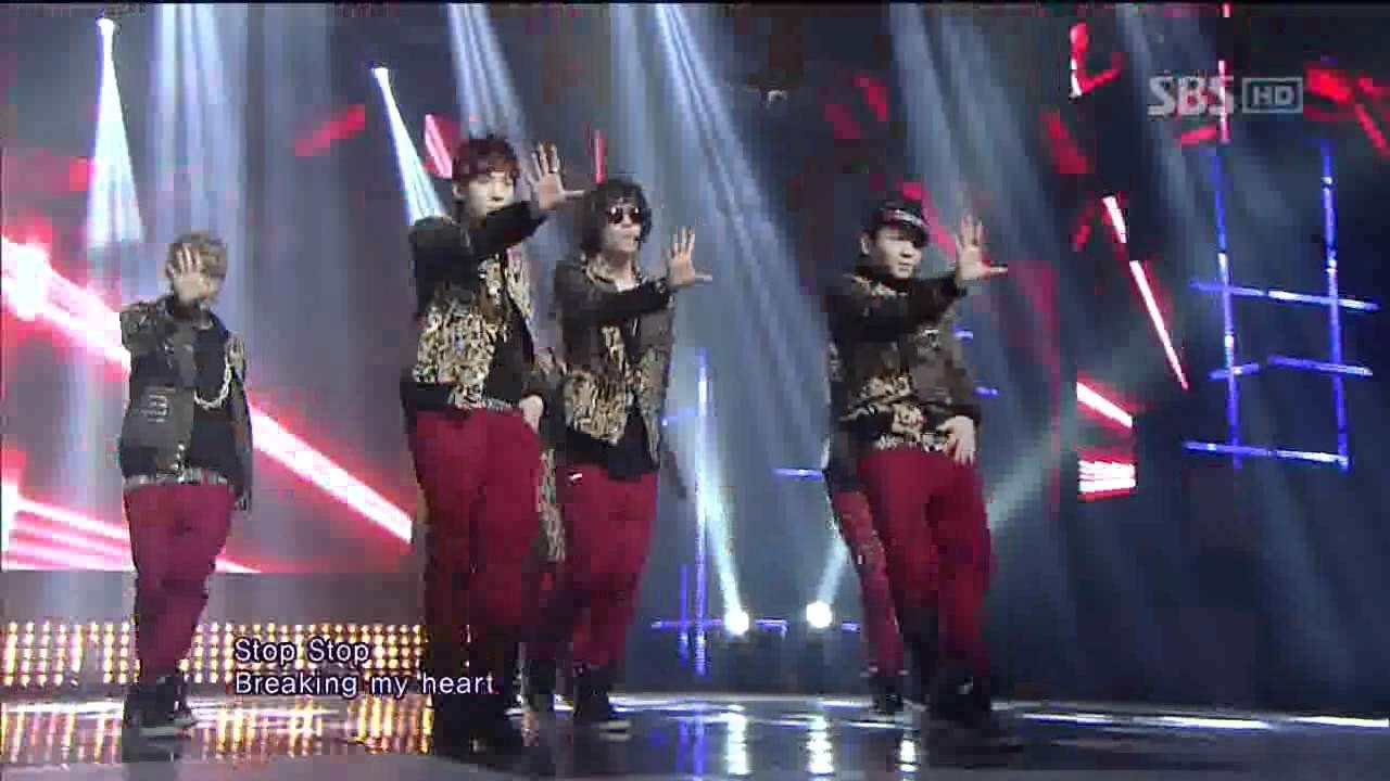 TEEN TOP [미치겠어] @SBS Inkigayo 인기가요 20120205