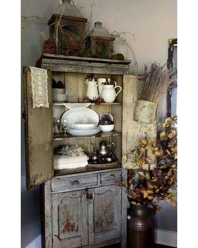 Vintage Cupboard Makeover Shabby Chic