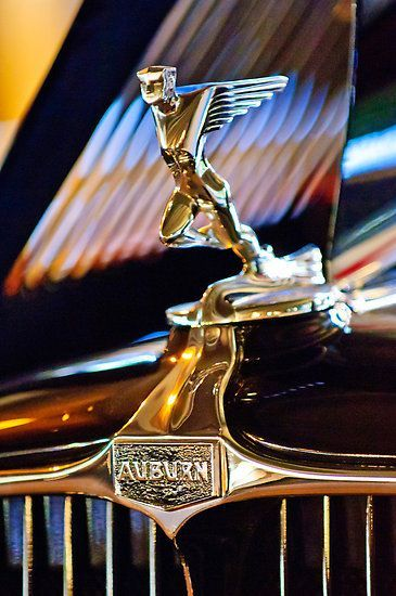 1932 Auburn V 12 Speedster Hood Ornament Automobile Name Plates