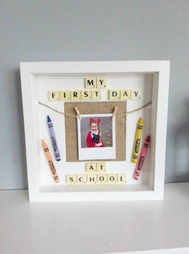 Boys first day at school picture frame, 1st day at preschool photo ...