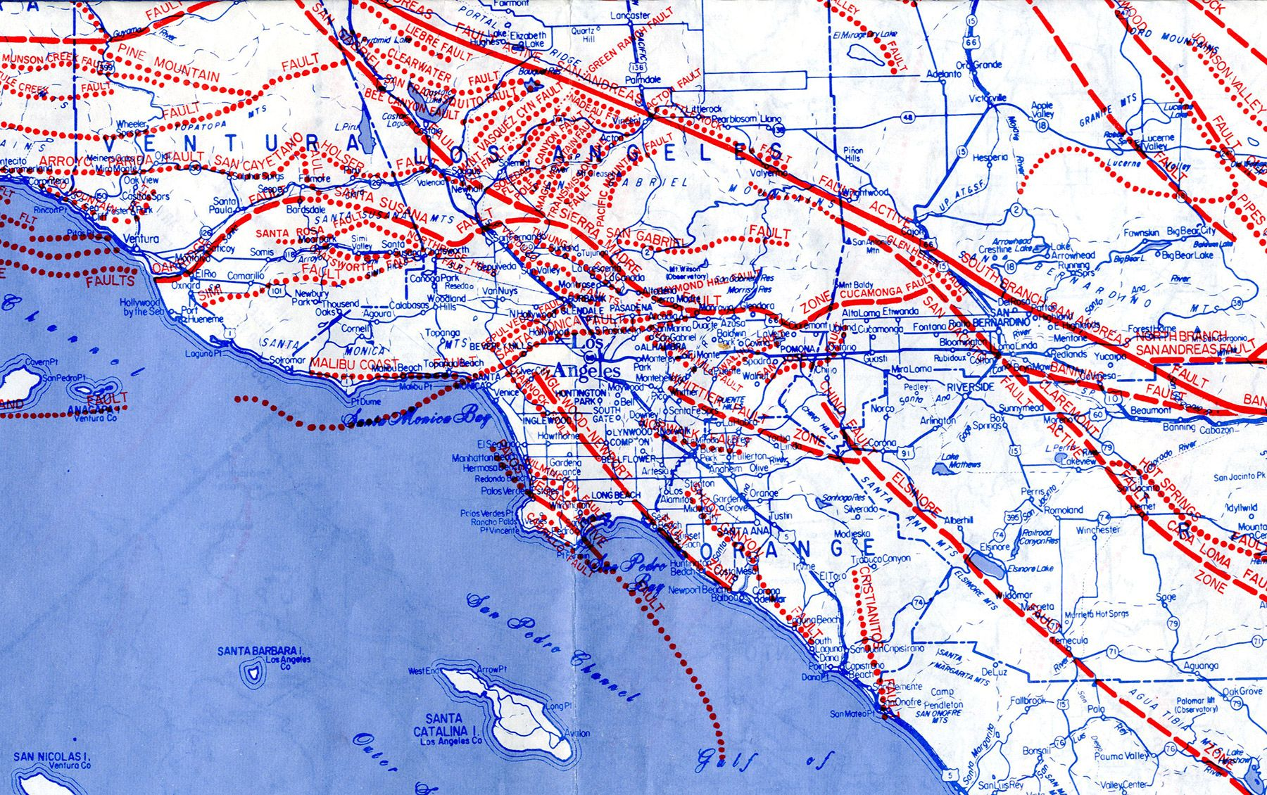 LA Public Library On Earthquake Fault Terry Oquinn And - Los angeles fault zone map