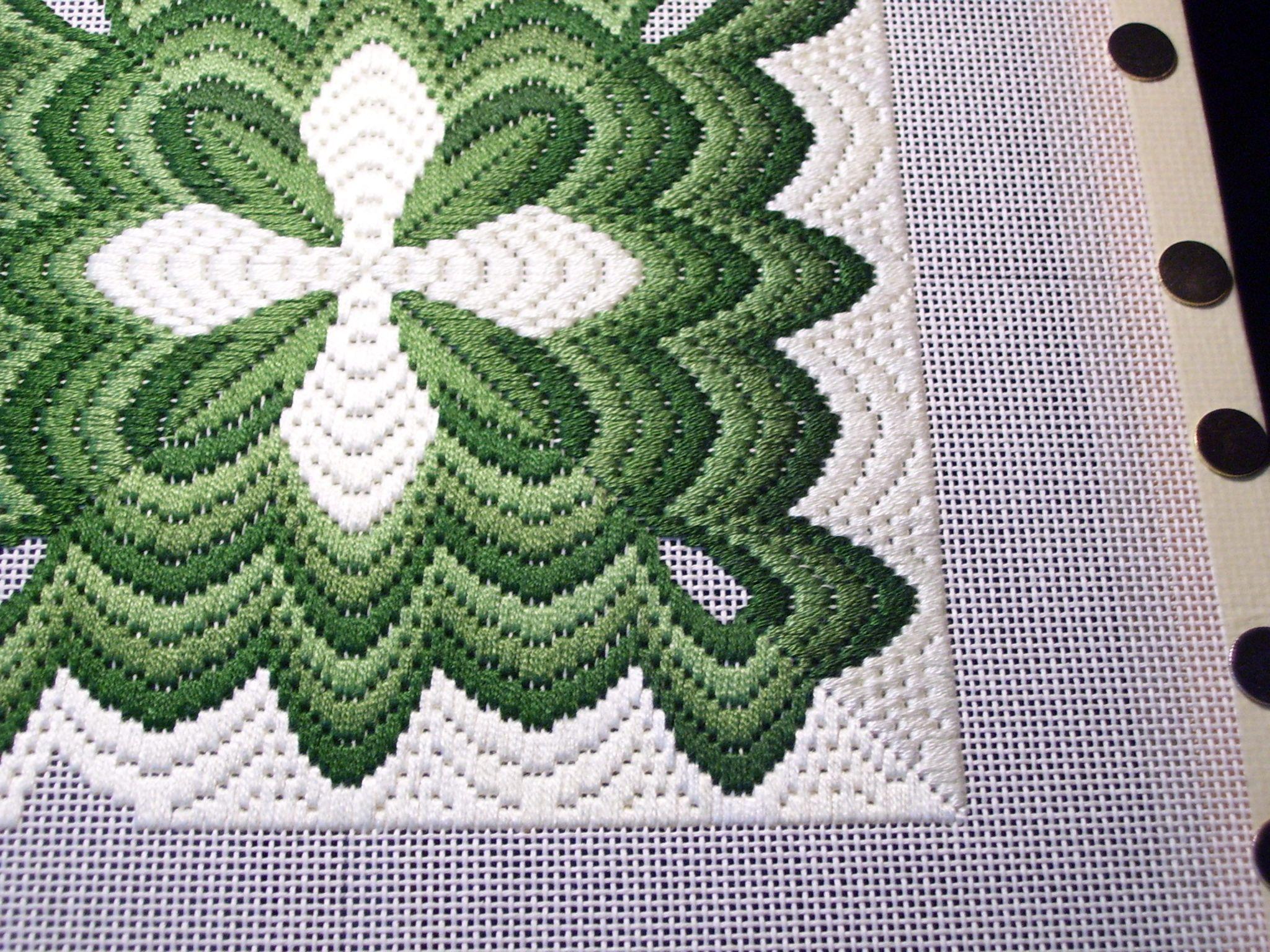Bargello Needlepoint Patterns | Four Way Bargello | Bordado ...