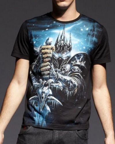 WOW game Arthas Menethil black t shirt for men World of Warcraft ...