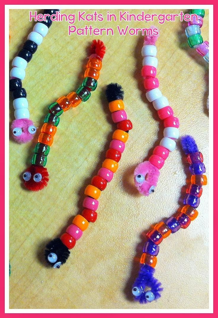 Pre k arts and crafts - Pattern Worms Easy And Fun Way To Assess Patterns While Working On Fine Motor Skills Minibeast Artworm Craftspet