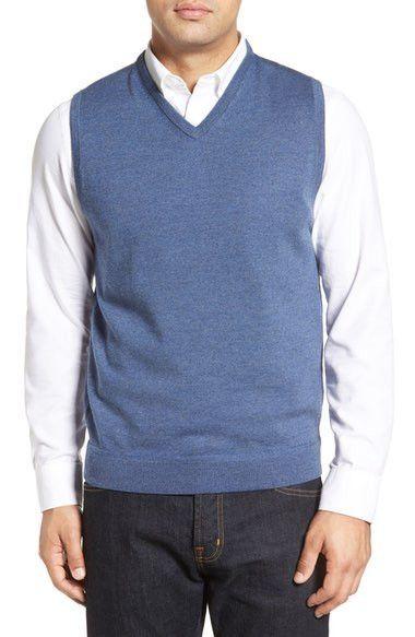 John W. Nordstrom V-Neck Merino Wool Sweater Vest | Sweater Vests ...