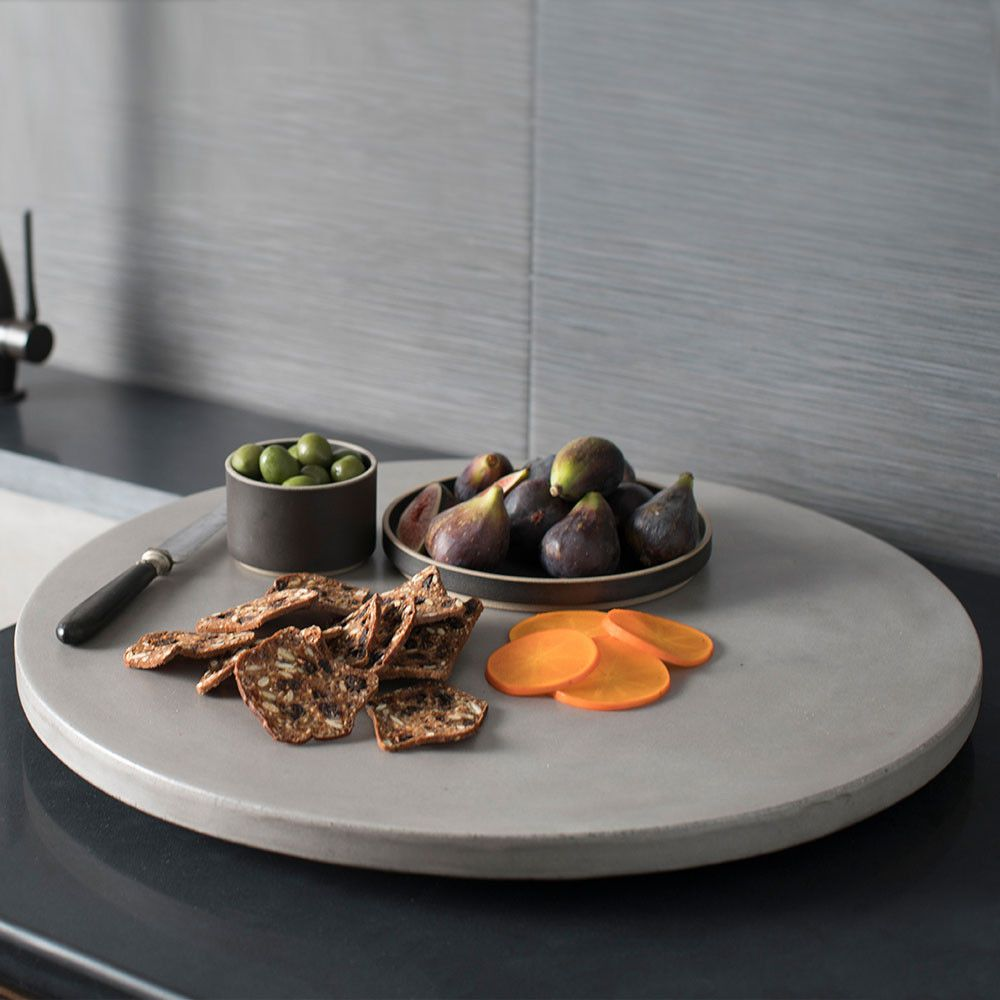 New in 2017 the large and sturdy NativeStone concrete lazy susan