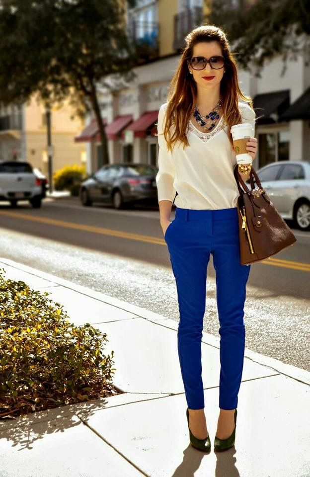 Business Pantalón Chothe Casual Rey Azul Work Outfits YxqwrnWYZf