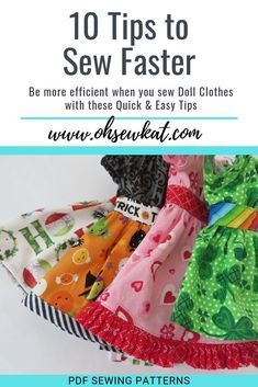 10 Quick Tips to Sew Your Doll Clothes Faster
