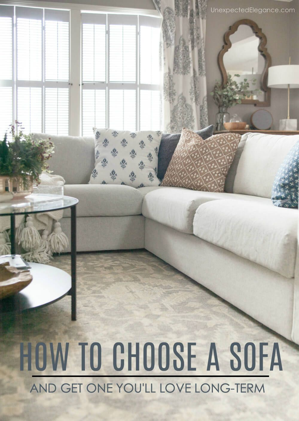 How To Choose A Sofa That Fits Your Space And Style Sofa Colors Couch Styling Living Room Cabinets