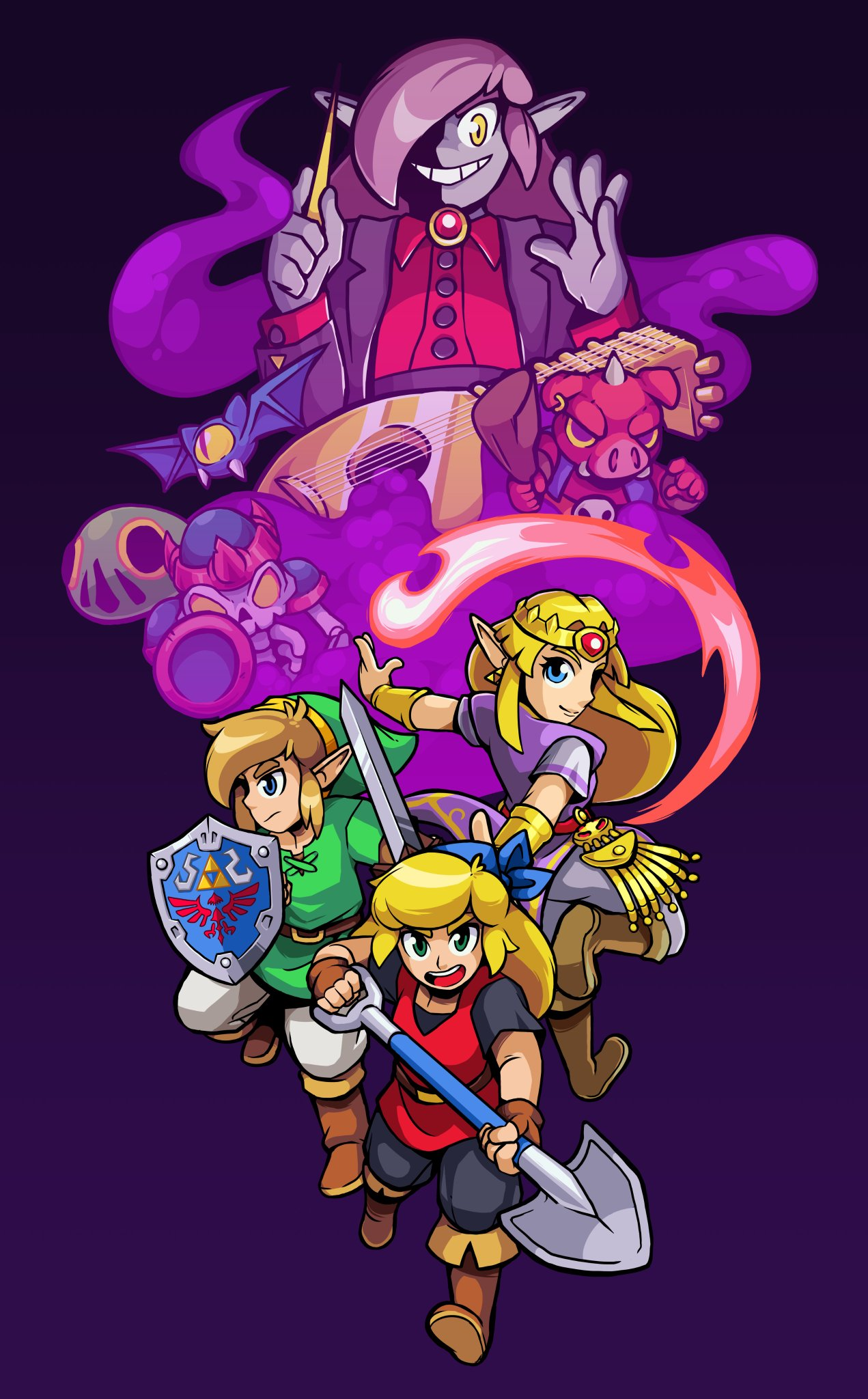 Cadence Of Hyrule Character Design References Character Design