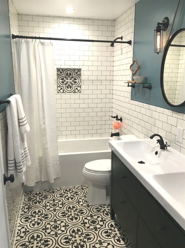 Today I M Doing My Bathroom Remodel Reveal And If You Re Thinking About A Remodel In Your Own H Small Master Bathroom Bathrooms Remodel Small Bathroom Remodel