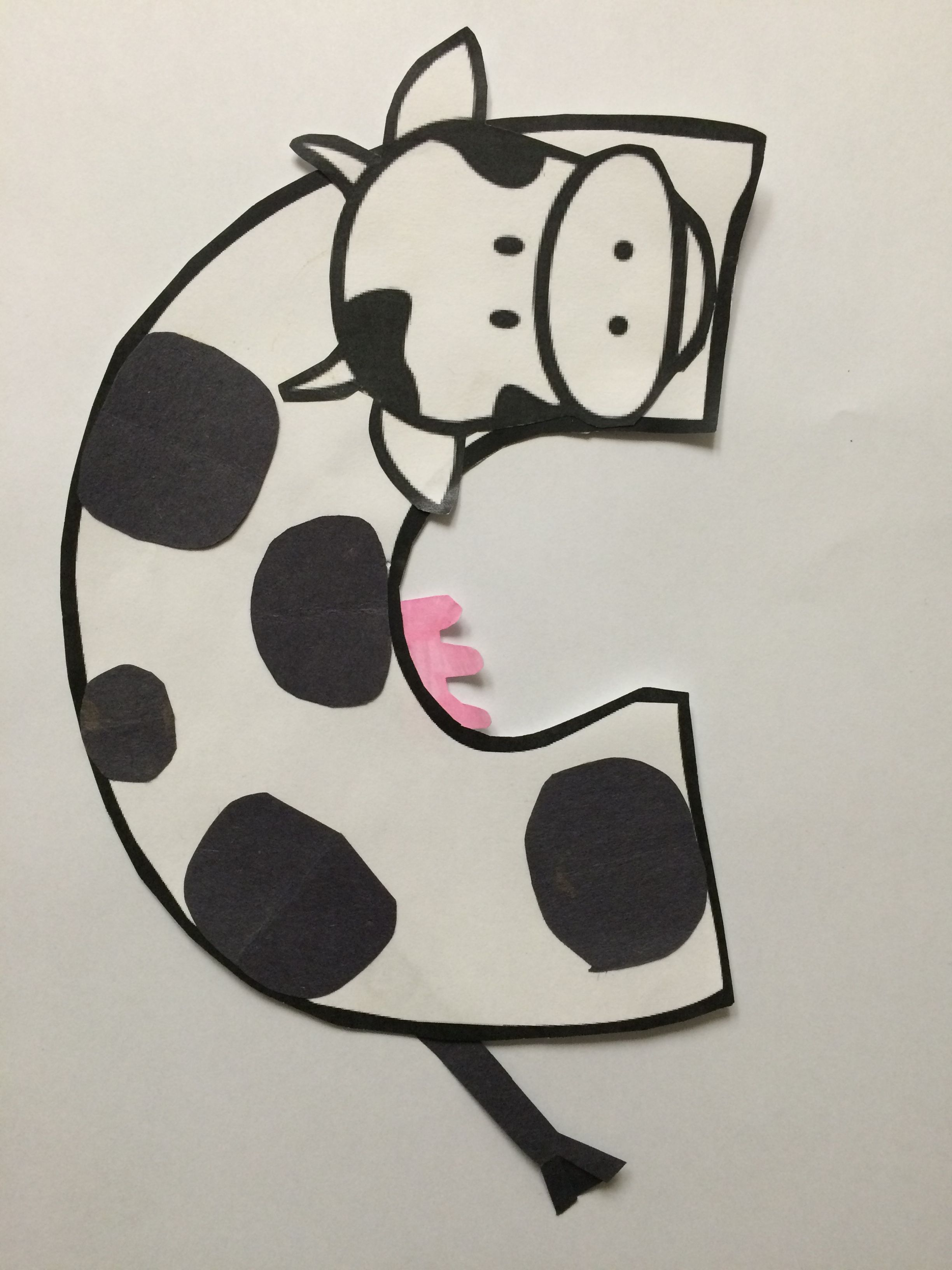 Alphabet Letter Craft Letter C Cow