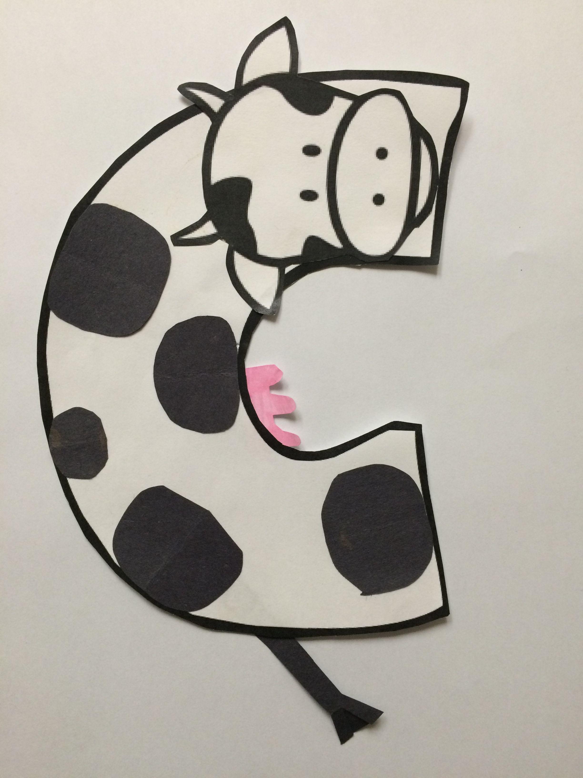 Alphabet Letter Craft Letter C Cow Letter A Crafts