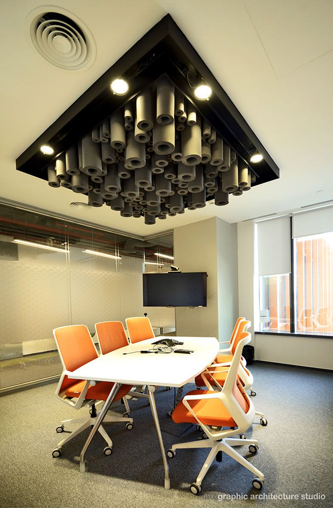 Skanska - Small meeting room with theme inspired by