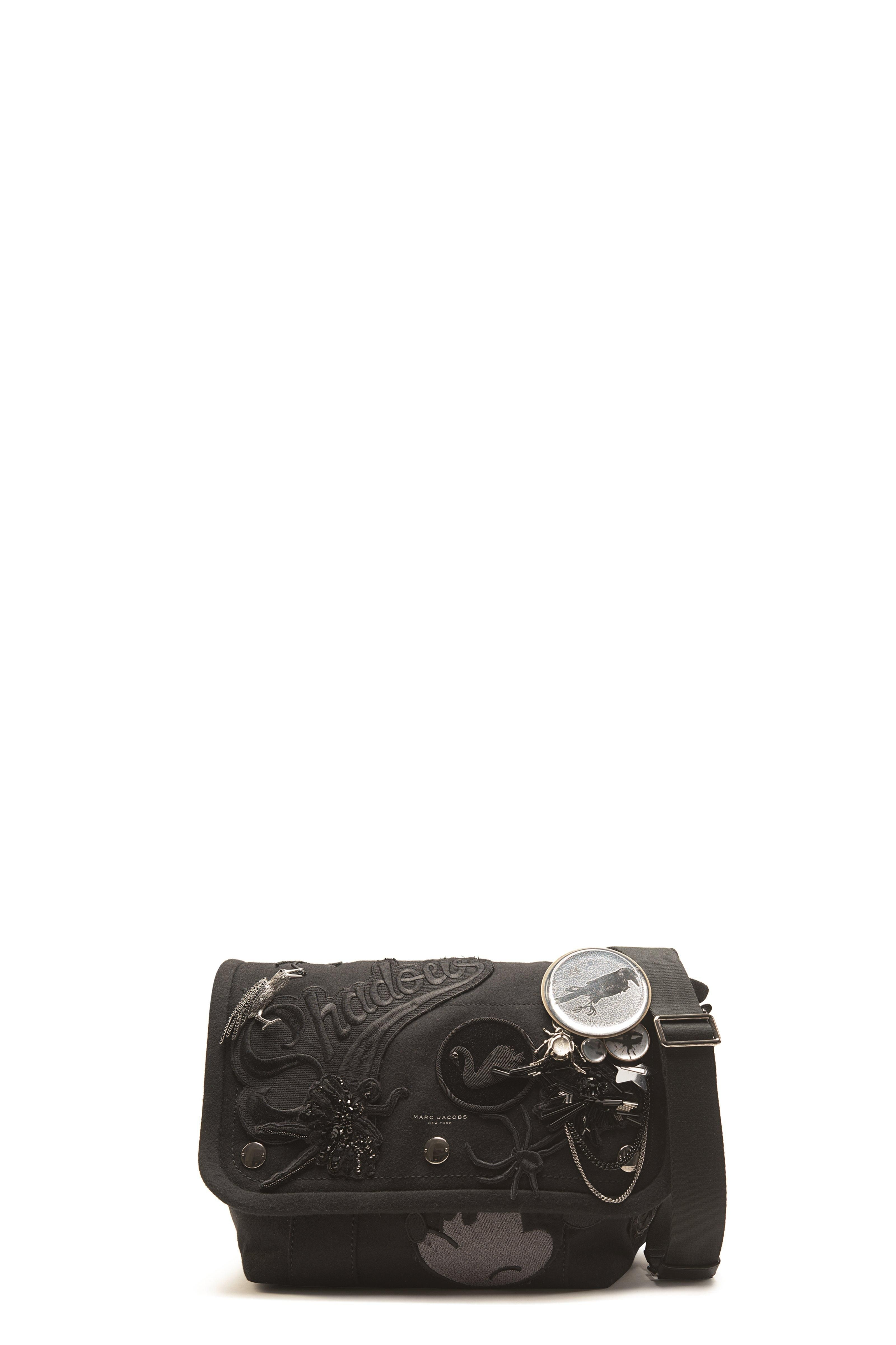ac3902f92b316 The Marc Jacobs Rummage Wool Small Messenger features this seasons favorite…