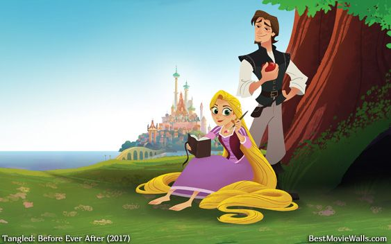 Flynn And Rapunzel Enjoying A Beautiful Day Outside In This Summer Wallpaper Tangled Series Tangled Disney Tangled
