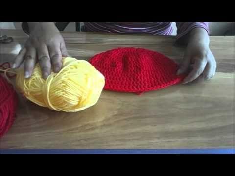 Gorro de Iron Man tejido en Crochet