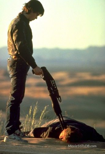 The Hitcher - Publicity still of Rutger Hauer & C. Thomas Howell