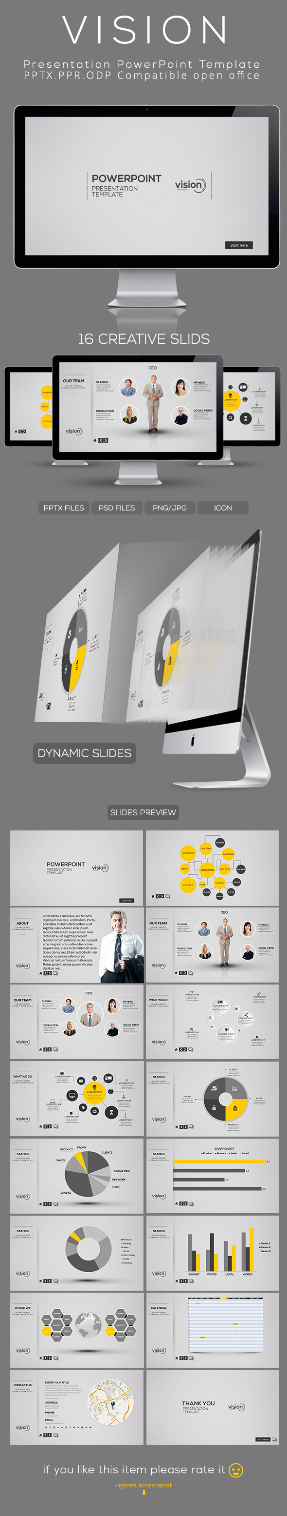3 beautiful powerpoint templates free via goanimates video vision powerpoint presentation template on behance toneelgroepblik Images