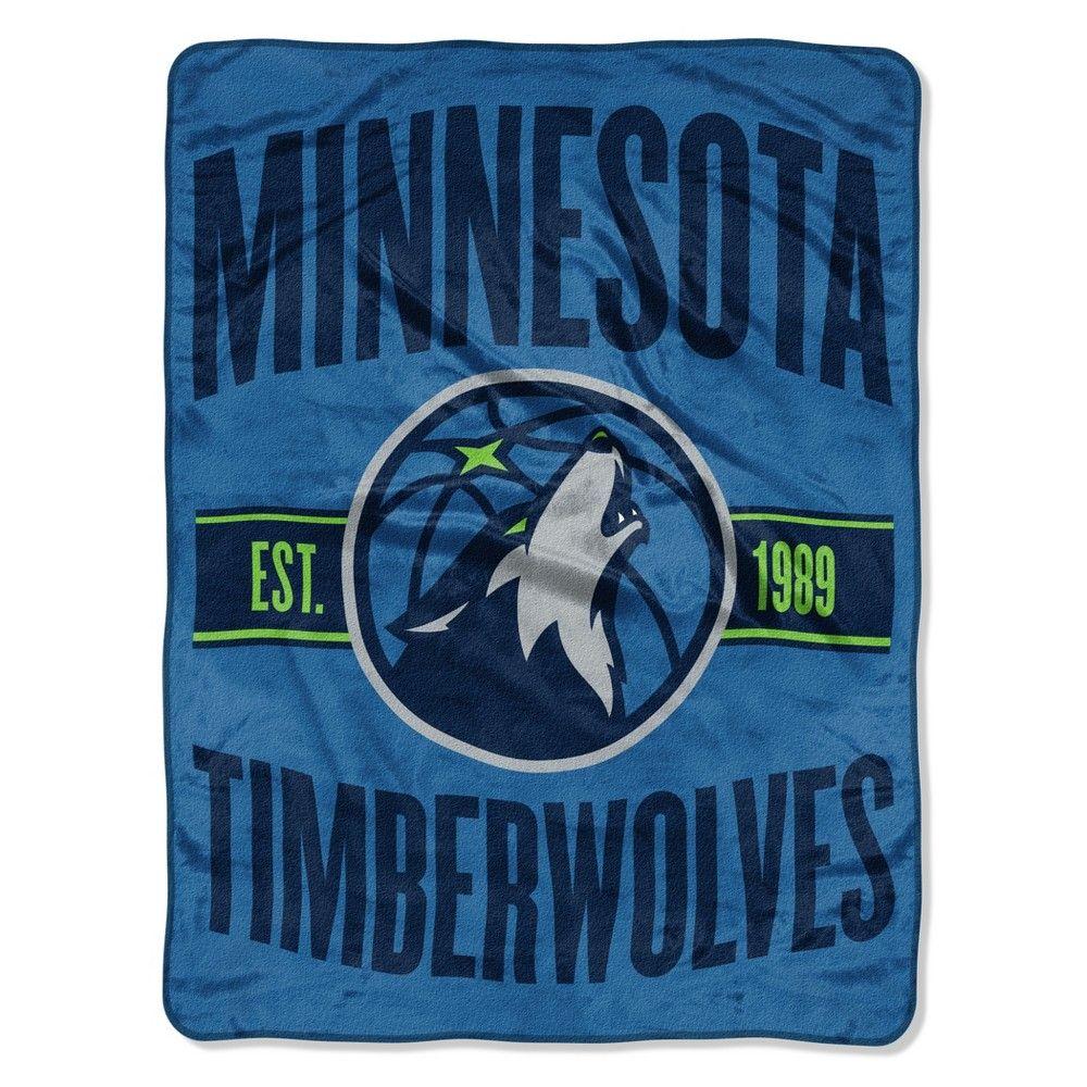 sale retailer e4fc5 f2201 NBA Minnesota Timberwolves Micro Fleece Blanket