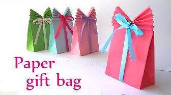 Gift Bag Folding Idea How To Make A Simple Box For Presents And