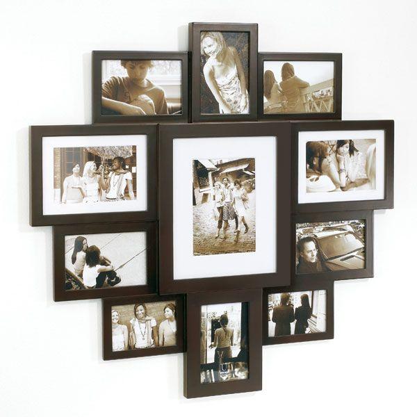 wall photo collage umbra large huddle wall frame espresso panik design photo collage. Black Bedroom Furniture Sets. Home Design Ideas