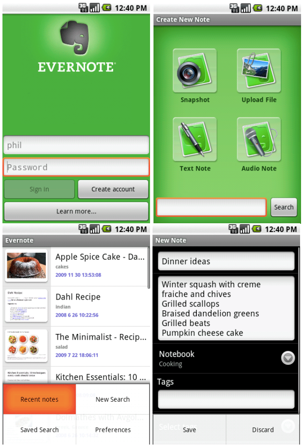 Worth Remembering: Evernote App Hits Android Market