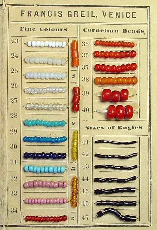 Francis Greil card from Venice Beads, Jewelry, Beaded items - sample cards