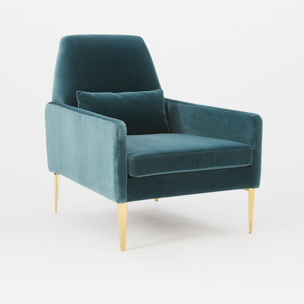 Smythe Velvet Chair Living Room Chairs Waiting Room Chairs
