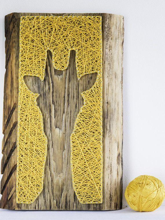Modern giraffe silhouette minimalist string art all season wall ...