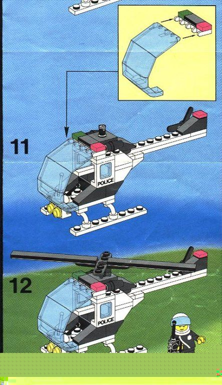 Police Police Helicopter Lego 6642 Lego Instructions