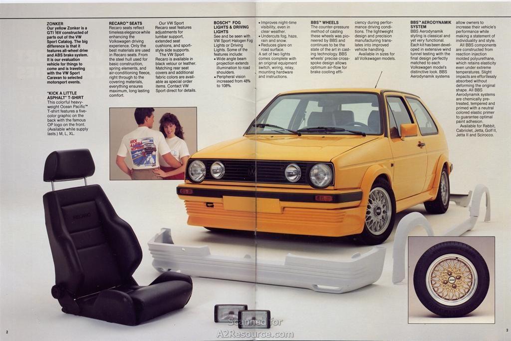 Body Kit Compendium Volkswagen Golf Mk2 Volkswagen Golf Mk1 Volkswagen