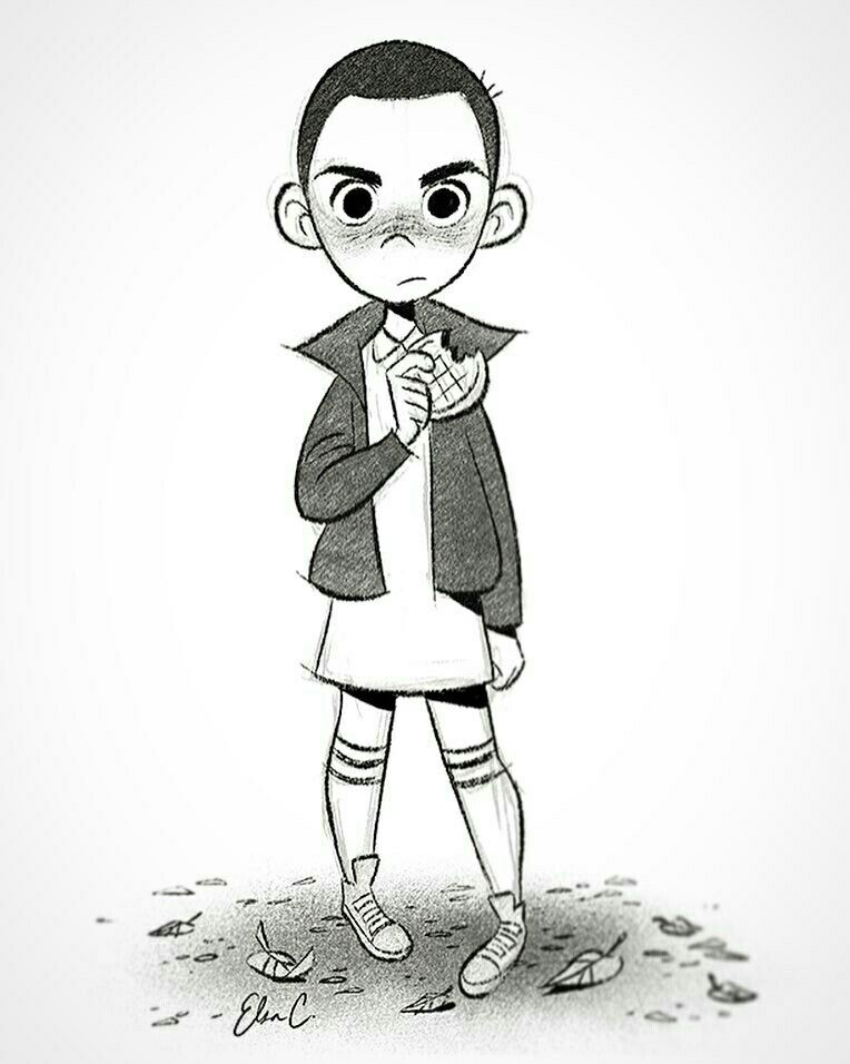 Eleven from Stranger Things by Elsa Chang (@elsasketch Instagram ...