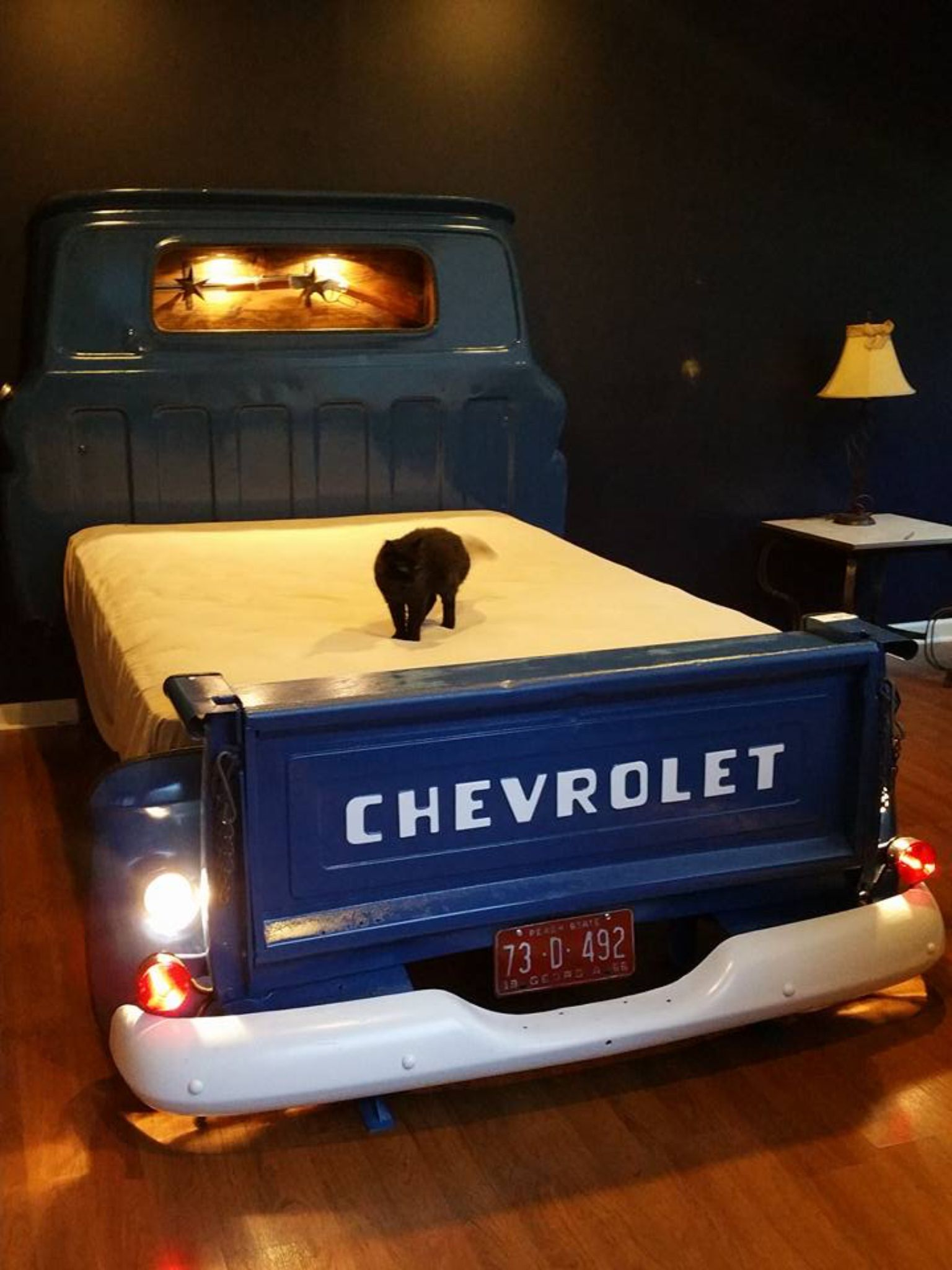 Queen size truck bed