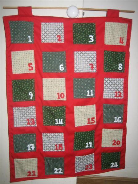 Fabric Advent Calendar with Pockets ~ How to make a fabric advent