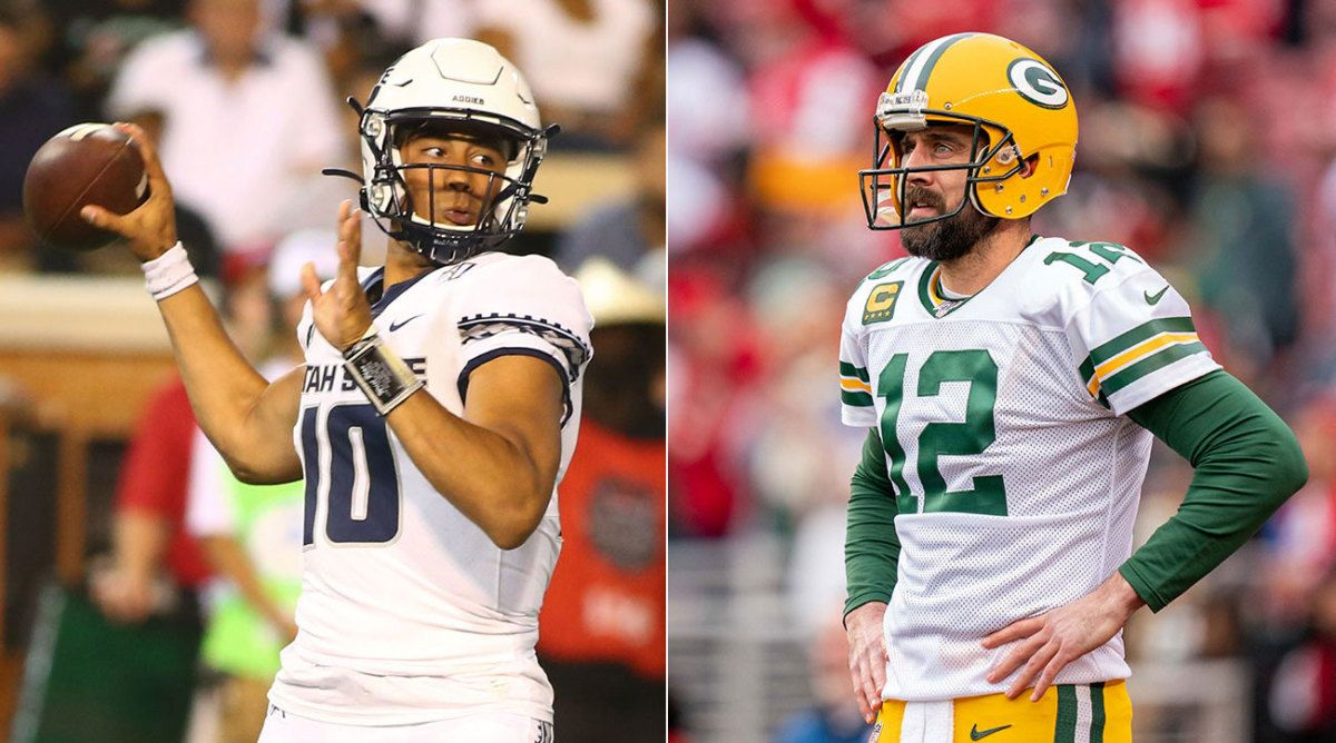 Qbs Brett Favre And Aaron Rodgers Were Linked Once Again When The Packers Took Jordan Love In The 2020 Nfl Draft Favre Thin In 2020 Nfl Draft Aaron Rodgers Nfl Sports