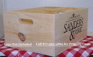 "15""x12""x7"" Pine Box with hand holes"