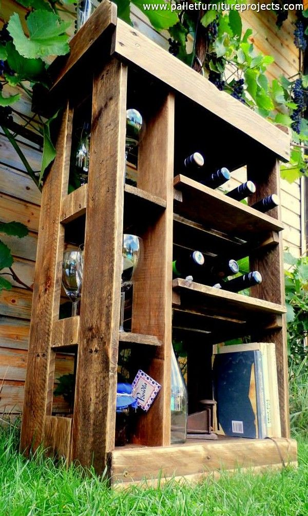 Wooden Pallet Patio Garden Bar (With images) | Pallet ...