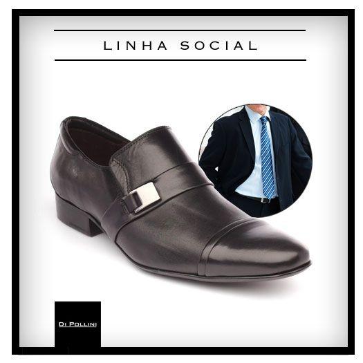 Este modelo da linha de sapatos sociais da Di Pollini é confeccionado  exclusivamente em couro Mont 3e3224e2ece