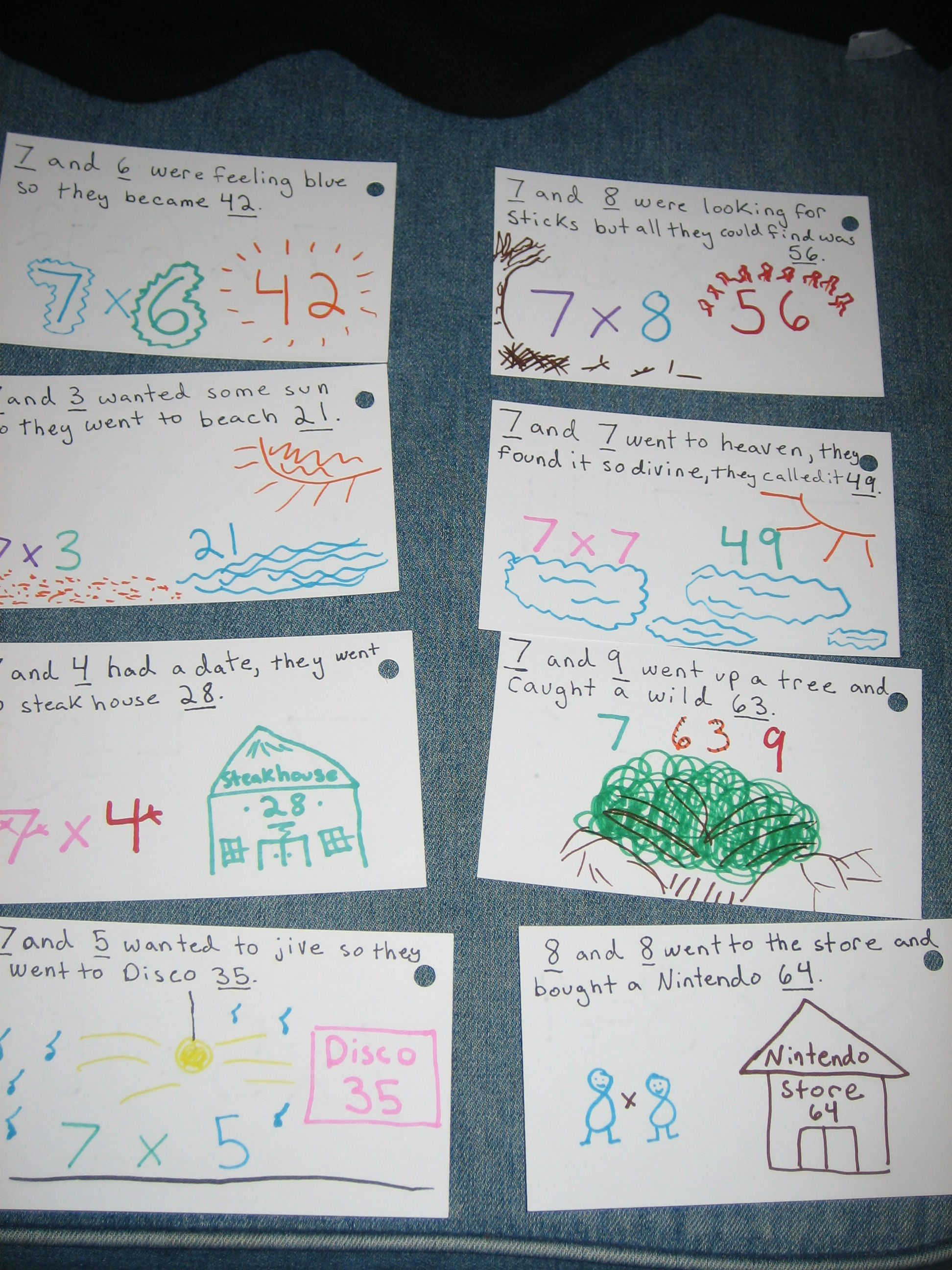 how to remember multiplication facts easy