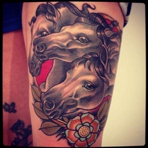 Alex Dorfler Horse Tattoo Old Tattoos Traditional Tattoo Art