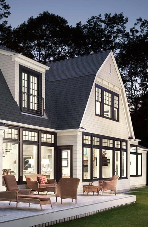 Black Exterior Window Frames2 In 2020 Modern Farmhouse Exterior Exterior House Colors House Exterior