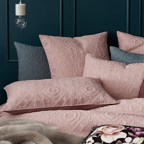 Malta Quilted Blush Quilt Cover   Small apartment ...