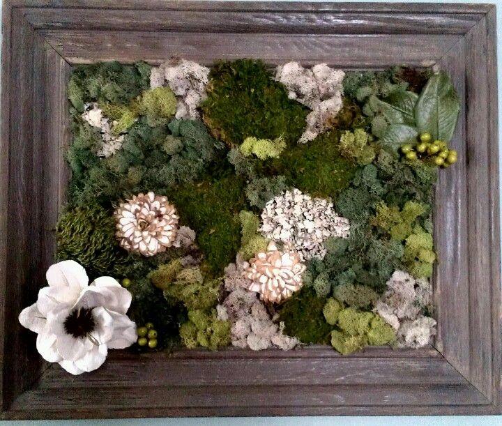 Homemade Moss Wall Art