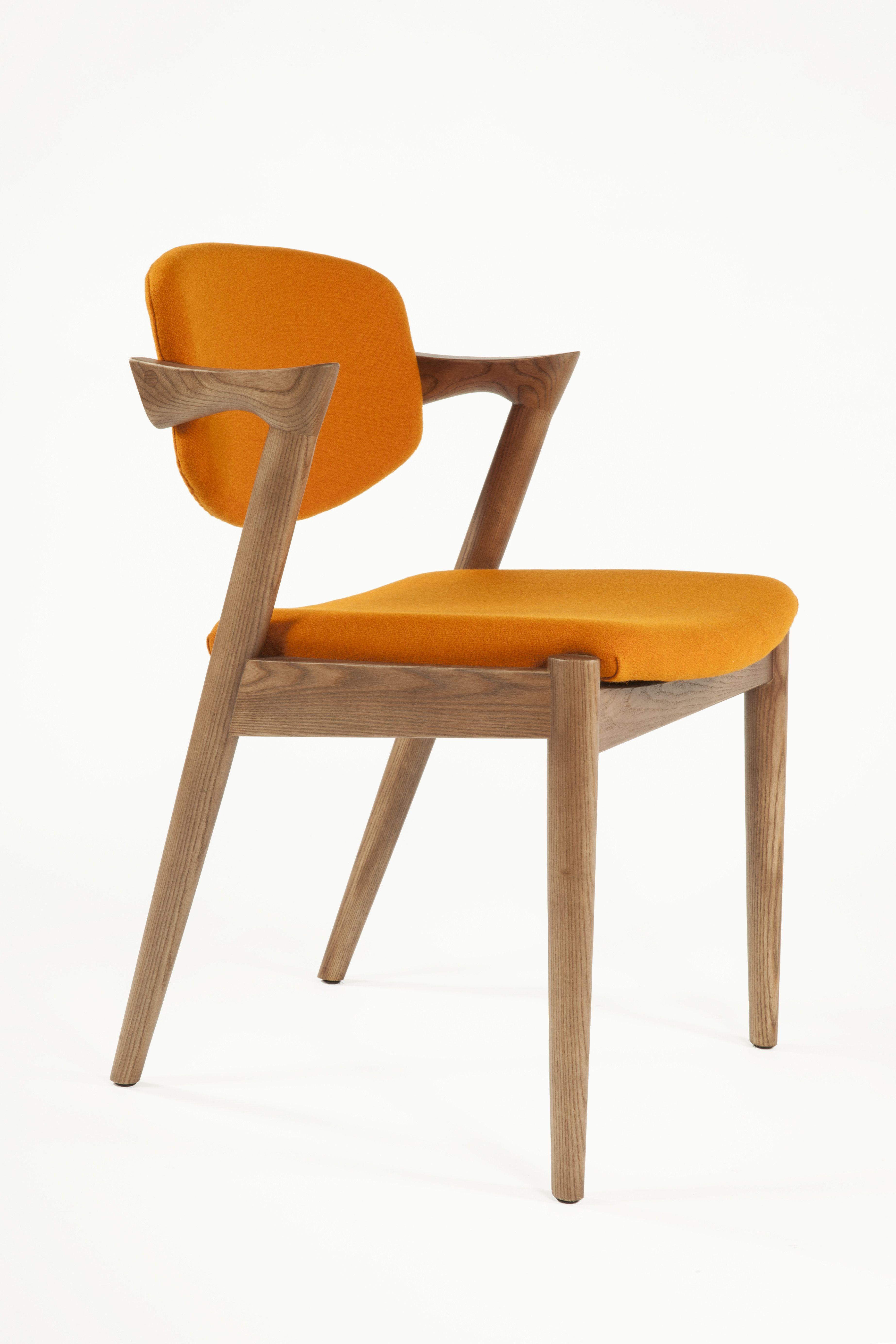 299 Mid Century Modern Reproduction Model 42 Flap Back Dining Chair Orange Inspired By Ka Orange Dining Chairs Midcentury Modern Dining Chairs Dining Chairs