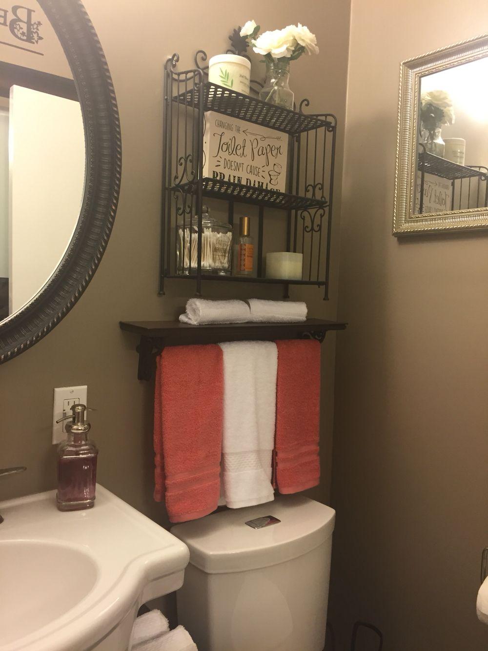 Bathroom Behr Studio Taupe Coral Bathroom Decor